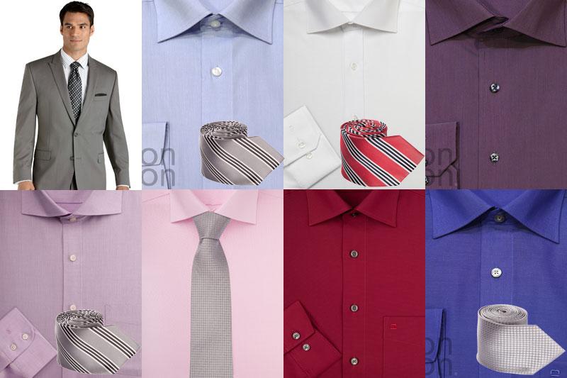 Фото праздничное сочетание галстука и рубашки